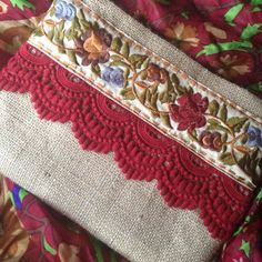 Browse unique items from BohoChicCollection on Etsy, a global marketplace of handmade, vintage and creative goods. Boho Clutch, Clutch Purse, Leather Clutch, Vintage Embroidery, Embroidery Patterns, Jute Fabric, Floral Clutches, Embroidered Bag, Etsy