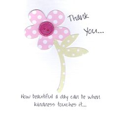 Simple Special Card Thank You Flower