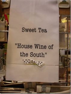 Sweet Tea is a Southern staple!