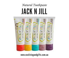 Jack N Jill Toothpaste - Eco Living and Gifts! 🍃 Made in Australia 🍃 Cruelty Free 🍃 Vegan 🍃 Gluten Free 🍃 Fluoride Free 🍃 SLS Free