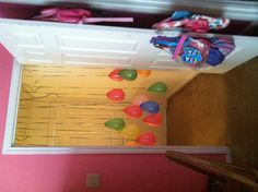 in all the doorways for party day, and her doorway for morning of her birthday!