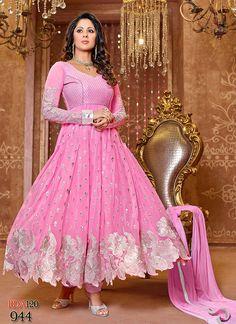 Fabulous Designer New Collection Of #SngeetaGhosh In Pink #AnarkaliSuit  #craftshopsindia