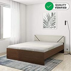 FurnitureKraft London King Size Metal Bed (Glossy Finish, Black): Amazon.in: Home & Kitchen Bedroom Closet Design, Furniture Assembly, Metal Beds, Queen Size Bedding, Wood Colors, Bed Design, Online Furniture, King Size, Recliner