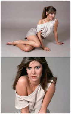 Carrie Fisher modeling