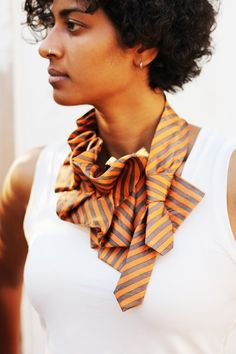 Love this repurposed tie on Etsy. What a cool and different scarf/accessory.