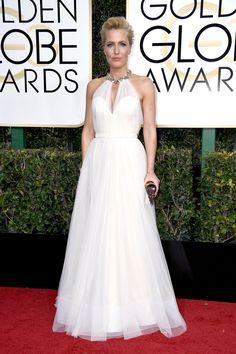 Gillian Anderson Jenny Packham Golden Globes 2017