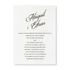 Camelot Wedding Invitations by TheAmericanWedding.com
