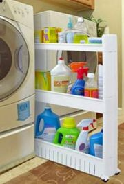 Laundry Storage & Organization Ideas: Slide-Out Storage