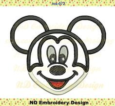 Hey, I found this really awesome Etsy listing at https://www.etsy.com/listing/236122610/mickey-mouse-face-applique-design