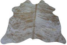 Brindle Cowhide Rug Size: 4' X 5 'ft Beige Brindle Cow Hide Skin Rug j-278 #DeluxeCowhides #Contemporary
