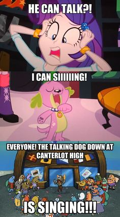 My little pony/spongebob this reminds me when spongbob was actually funny