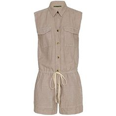 7a9b13a87d3c Enza Costa Gray Cargo Romper XS Clout Wear Fashion for Womens
