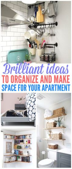 33 Brilliant Apartment Organization Ideas To Share - - Keeping a small-spaced house or an apartment can be quite a challenge. That's why we want to share the best small apartment organization ideas we found! Small Apartment Living, Small Apartment Decorating, Small Space Living, Small Space Decorating, Living Rooms, Small Living Room Storage, Small Apartment Hacks, Small House Living, Condo Living