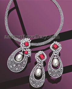 Jewellery Designs: Classic Pendant with White Gold
