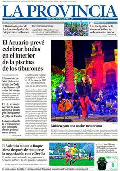Esta es nuestra portada del 18 de julio de 2016. Más noticias en nuestra web: http://www.laprovincia.es/