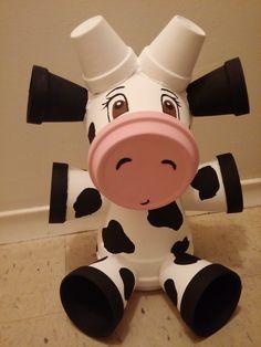 terra cotta cow