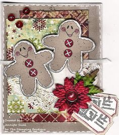The background gives a whole new look to the gingerbread men...  I like it!