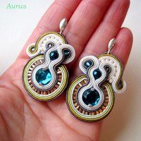 Earrings with soutache bis by GaleriaAURUS on deviantART