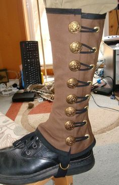 Steampunk Military Spats Sewing Pattern. $5.00, via Etsy.