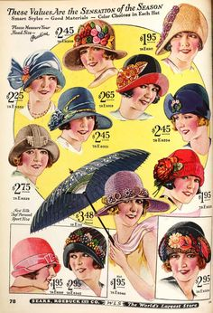Vintage Fashion Hats, 1926 This is totally me Born in the wrong but oh so right generation - calantheandthenightingale Vintage Outfits, Vintage Fashion, Fashion 1920s, 1920s Hats, Flappers 1920s, Illustration Mode, Love Hat, Looks Vintage, Hat Pins