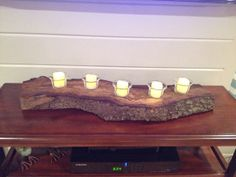 Beautiful Wood Log Candle Holder Centerpiece By Palletsbyblake 150 00 Holders Centerpieces