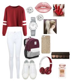 """Ya☺️"" by maggiehoeser36 on Polyvore featuring Miss Selfridge, Yves Saint Laurent, Victoria's Secret, Beats by Dr. Dre, Michael Kors, Longines, Lime Crime and Giorgio Armani"