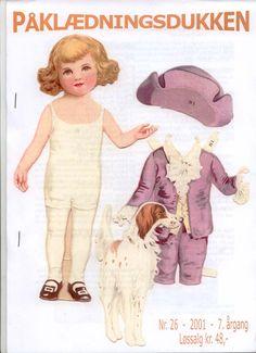 Danish BOY Paper Doll c. 1920 <>  2001 Newsletter Cover 1 of 2