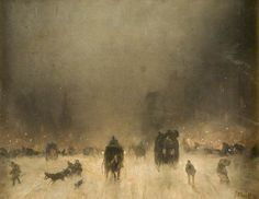 James Abbot McNeil Whistler, A Foggy Night in London n.d.