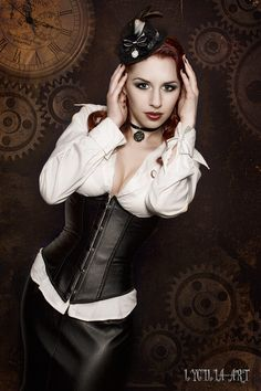 steampunk ninette by Lycilia. #Steampunk #Girls #Woman #Gosstudio #Lady #SteampunkFashion .★ We recommend Gift Shop: http://www.zazzle.com/vintagestylestudio ★