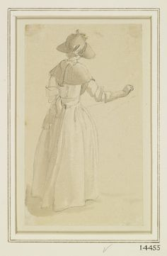 A girl in a sunhat, seen from behind, Paul Sandby, Royal Collection Trust/© Her Majesty Queen Elizabeth II 2014 18th Century Clothing, 18th Century Fashion, Historical Costume, Historical Clothing, Female Clothing, Rococo Painting, Royal Collection Trust, Fashion Sites, Historical Images