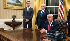 Churchill bust returns to Oval Office as Donald Trump settles in.(January 21st 2017)