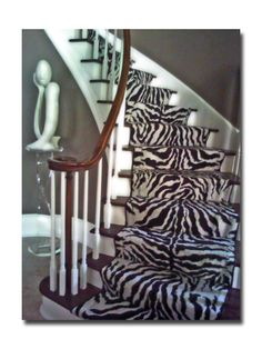 :) - so love the stairs & add a pop of lime green or red and it would be wonderful.