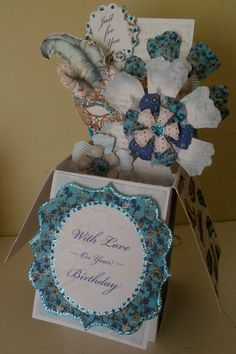 Another angle of the pop up card I made using Craftwork Cards Venetian kit.
