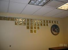 Image result for glass blocks on partition wall