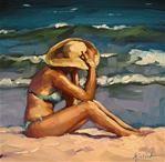 "Daily Paintworks - ""All In Good Time"" - Original Fine Art for Sale - © Karin Jurick Brown Eyed Girls, Beach Art, Fine Art Gallery, Art For Sale, Bing Images, Illustration, Artist, Artwork, Life"