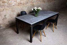 die besten 25 betonplatte esstisch ideen auf pinterest beton esstisch esstisch design und. Black Bedroom Furniture Sets. Home Design Ideas