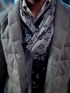 I love this scarf and vest combination! Banana Republic has a similar vest out this season! The scarf itself needs no explanation!