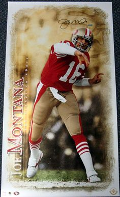 This is an 20x36 photo that has been hand signed by Joe Montana. It has been authenticated by UDA and comes with their sticker and matching certificate of authenticity.