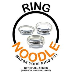 Ring Guard by RING NOODLE (SET OF THREE 1-narrow, 1-medium, 1-wide) Ring Size Reducer, Ring Size Adjuster by RING NOODLE -- Awesome products selected by Anna Churchill