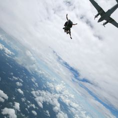 ...skydiving...