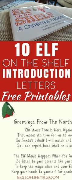 Elf on the shelf introduction letter Holiday fun Pinterest - introduction letter