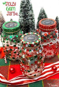 Make Jolly Gem Jars! - linked up at DIY Crush Craft Party http://www.diy-crush.com