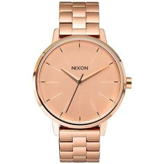 Nixon Kensington Watch ($175) ❤ liked on Polyvore featuring jewelry, watches, bracelets, nixon watches, triple crown, stainless steel jewelry, nixon jewelry and stainless steel wrist watch