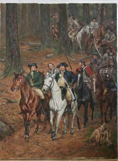 Patriot Colonel Cleveland after Battle of Kings Mountain, SC.  He's the big guy on the white horse that belonged to Ferguson, the slain leader of the loyalists. Painting by Don Troiani