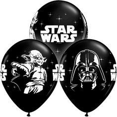 "Star Wars Balloons 11"" Black Latex Licensed Party Darth Vader Yoda Star Wars Party Birthday starwars balloon star war by PartyHaus on Etsy https://www.etsy.com/listing/267274203/star-wars-balloons-11-black-latex"