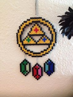 Zelda inspired Perler Dream Catcher by DesigningsbyDarci on Etsy