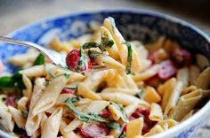 Spicy Pasta Salad with Smoked Gouda, Tomatoes, and Basil   The Pioneer Woman Cooks   Ree Drummond