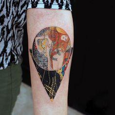Water Serpents I by Gustav Klimt Tattoo: Alexey Buzunov Tattoo Platzierung, Piercing Tattoo, Body Art Tattoos, Cool Tattoos, Tribal Tattoos, Gemini Tattoos, Tattoo Wings, Movie Tattoos, Ear Tattoos