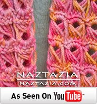 Free Pattern - Crochet Broomstick Lace Scarf Video from Naztazia