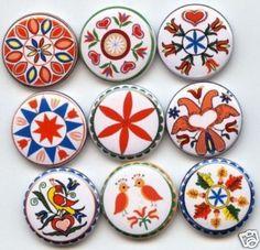 Pennsylvania PA Dutch Hex Signs 9 Buttons Badges Pins | eBay